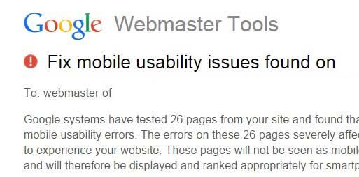 اخطار گوگل به سایت های ناسازگار با موبایل