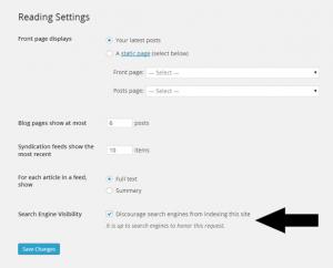 از موتورهای جستجو درخواست کن تا محتوای سایت رو بررسی نکنن