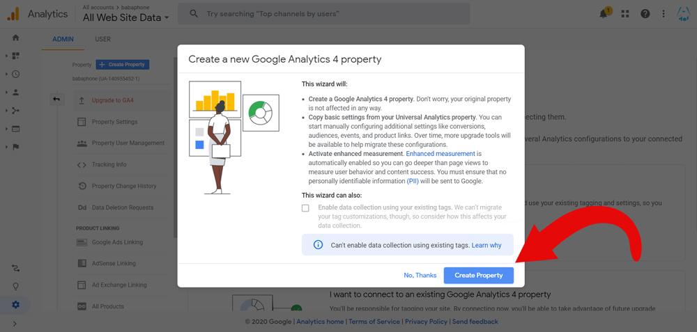 ساخت پراپرتی جدید در گوگل آنالیتیکس ورژن 4